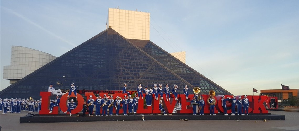 Band at Rock and Roll Hall of Fame