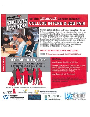 college intern and job fair