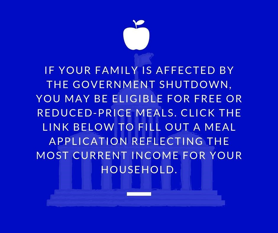 Shutdown meal assistance