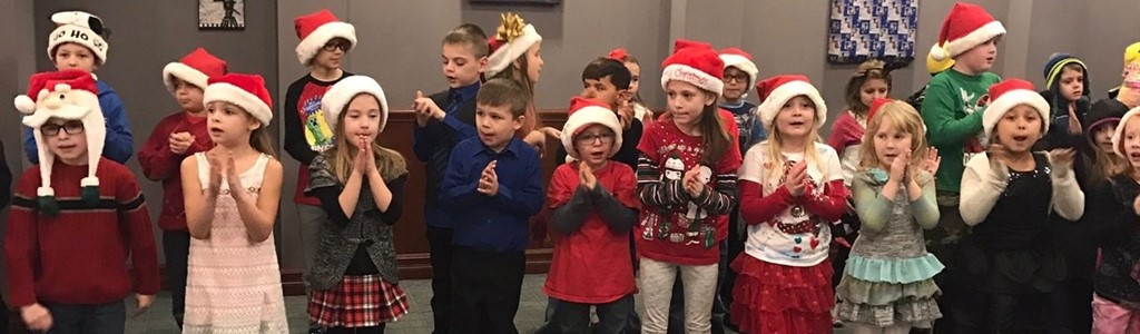 North elementary students sing at the Lantern